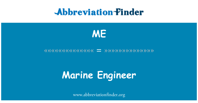 ME: Marine Engineer