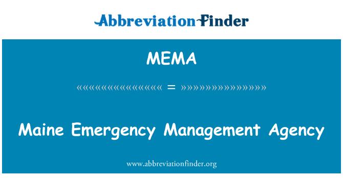 MEMA: Maine Emergency Management Agency
