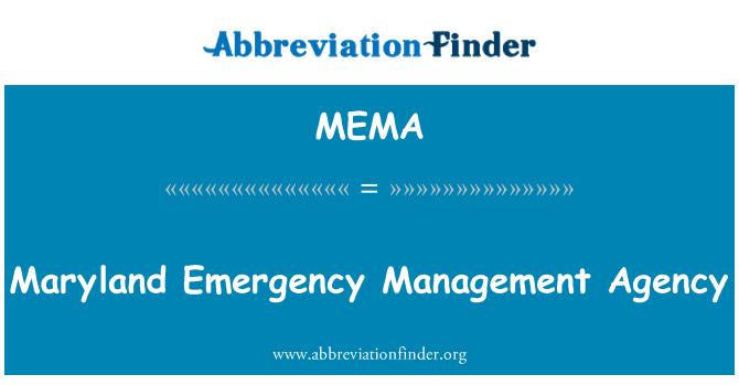 MEMA: Maryland Emergency Management Agency