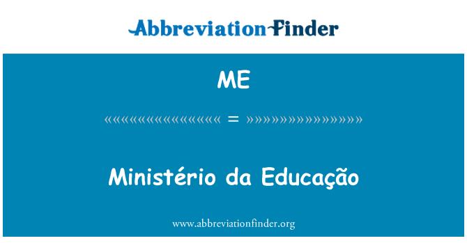 ME: Ministério da Educação