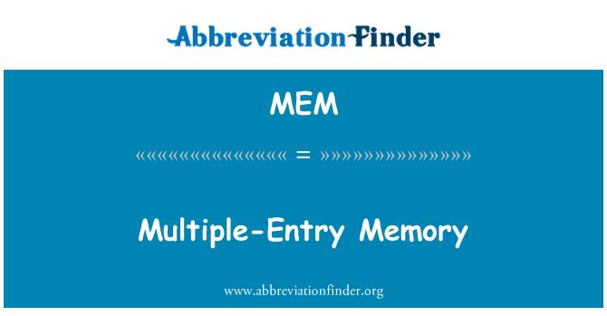 MEM: Multiple-Entry Memory