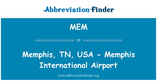 MEM: Memphis, TN, USA - Memphis International Airport