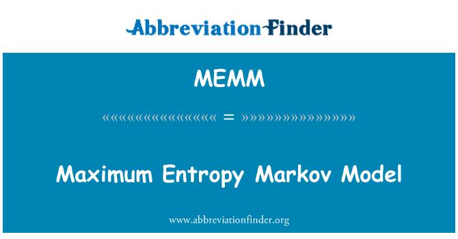 MEMM: Maximum Entropy Markov Model