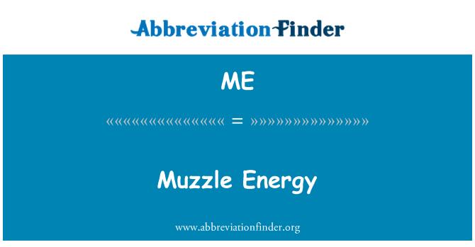 ME: Muzzle Energy