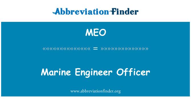 MEO: Marine Engineer Officer