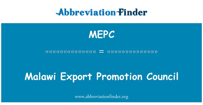 MEPC: Malavi ihracat tanıtım Konseyi