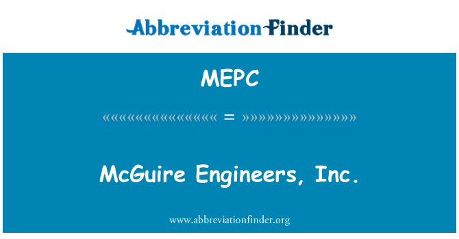 MEPC: McGuire Engineers, Inc.