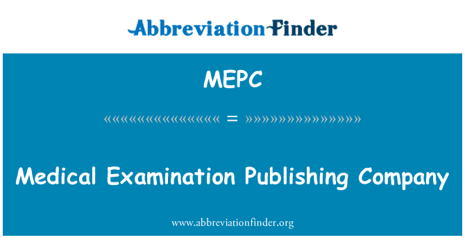 MEPC: Tıbbi sınav yayınları