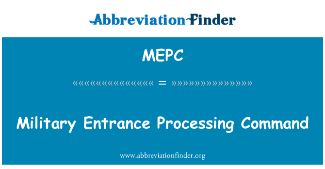 MEPC: Askeri giriş işleme komutu
