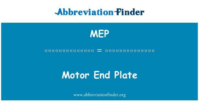 MEP: Motor End Plate