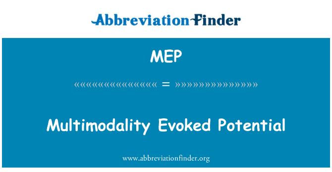 MEP: Multimodality Evoked Potential