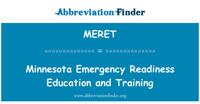 MERET: Minnesota hitne spremnost obrazovanja i osposobljavanja