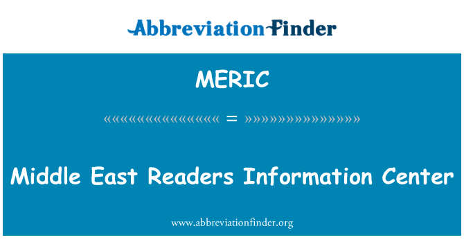MERIC: Middle East Readers Information Center