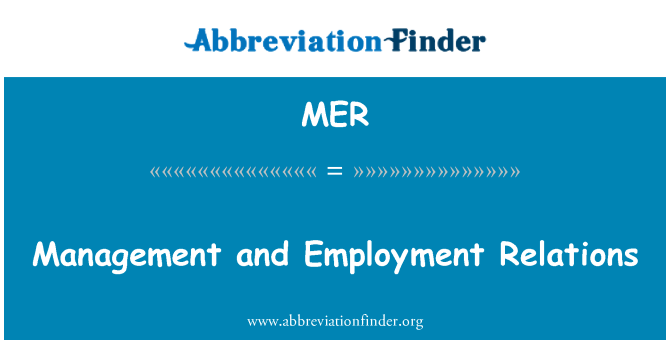 MER: Management and Employment Relations