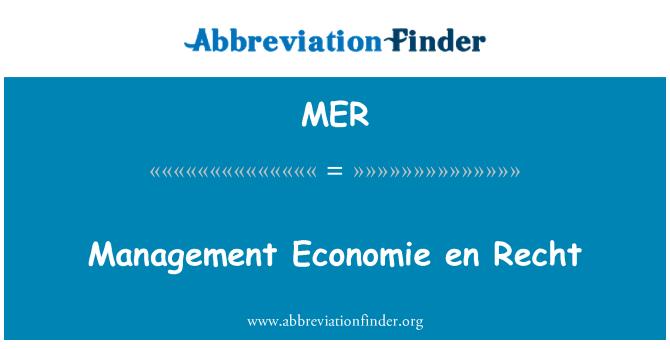 MER: Management Economie en Recht