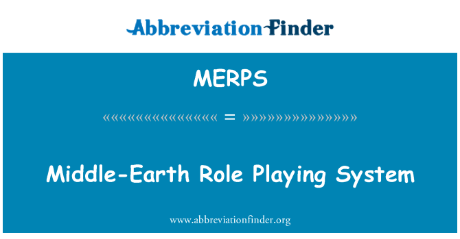 MERPS: Middle-Earth Role Playing System