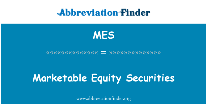 MES: Marketable Equity Securities