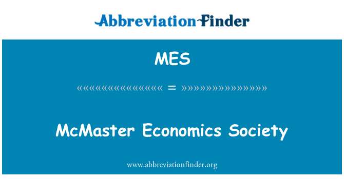MES: McMaster Economics Society