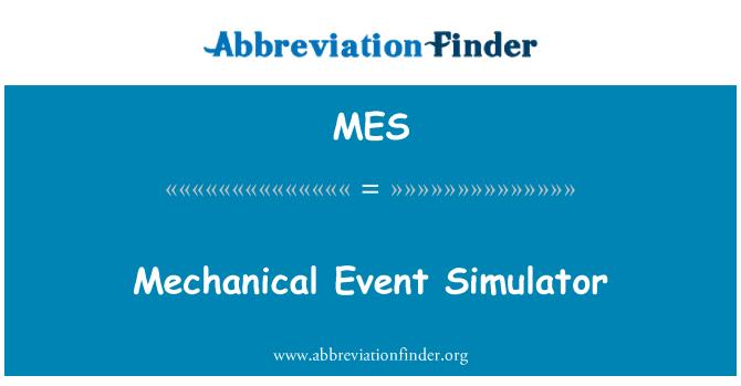 MES: Mechanical Event Simulator