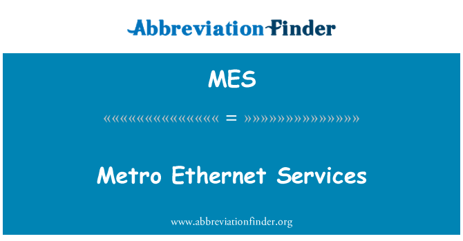 MES: Metro Ethernet Services