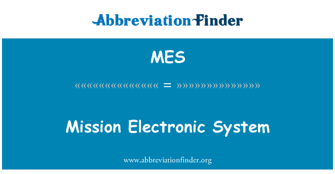MES: Mission Electronic System