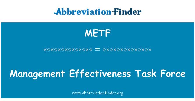 METF: Juhtimise tõhusust Task Force