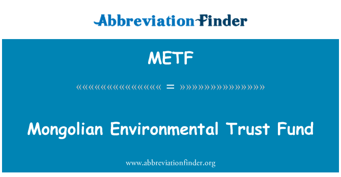 METF: Moğol çevre Fonu