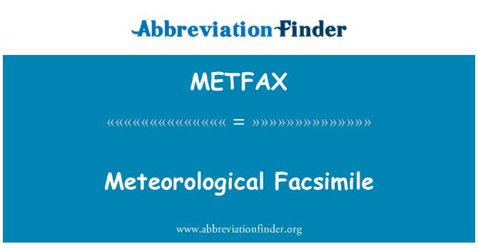 METFAX: הפקסימיליה המטאורולוגי
