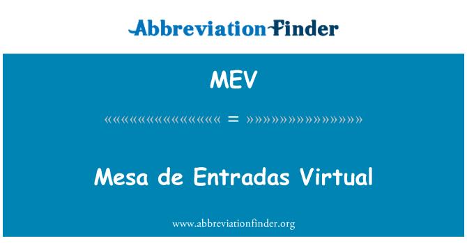 MEV: Mesa de Entradas Virtual