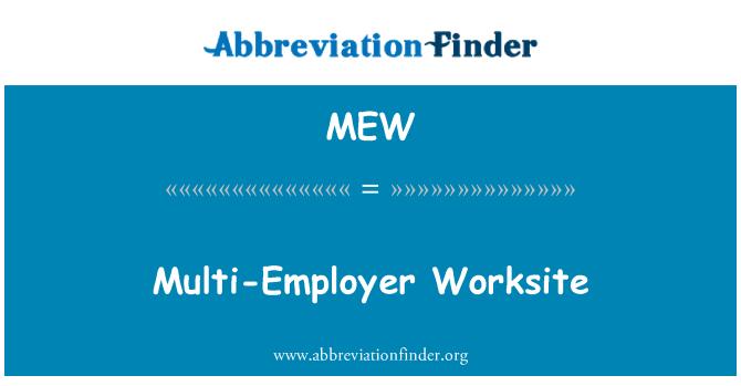MEW: Multi-Employer Worksite
