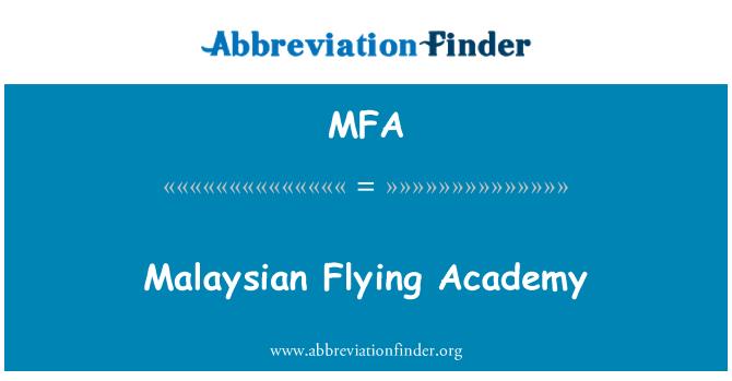 MFA: Malaysian Flying Academy