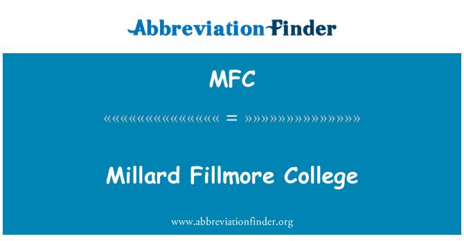 MFC: Millard Fillmore College