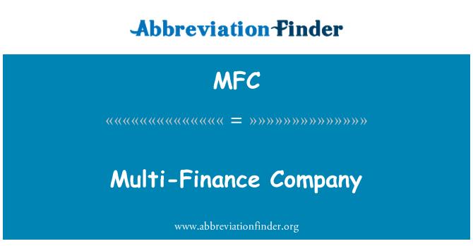 MFC: Multi-Finance Company