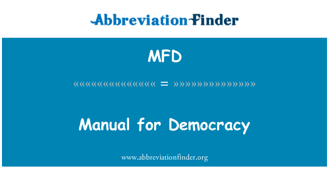 MFD: Manual for Democracy