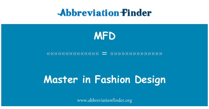 MFD: Master in Fashion Design