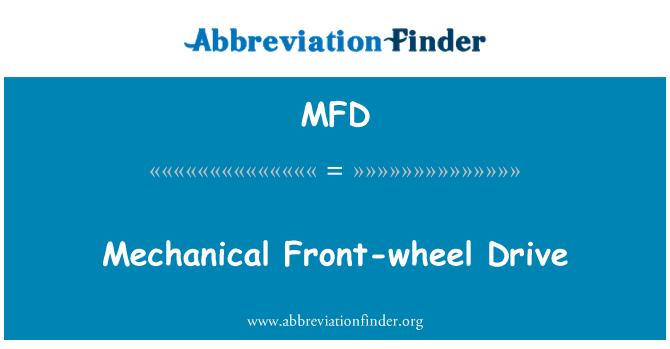 MFD: Mechanical Front-wheel Drive