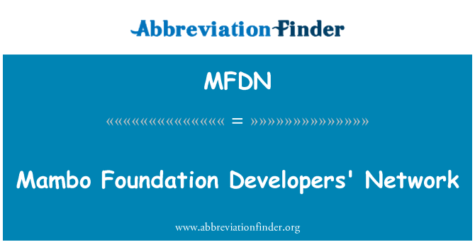 MFDN: Mambo Foundation Developers' Network