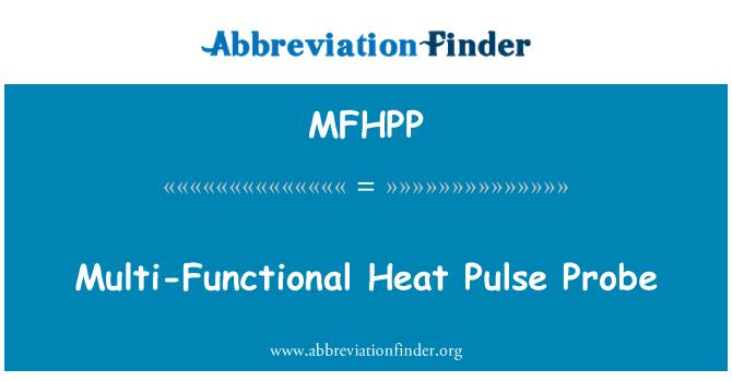MFHPP: Sonda de pulso de calor multifuncional