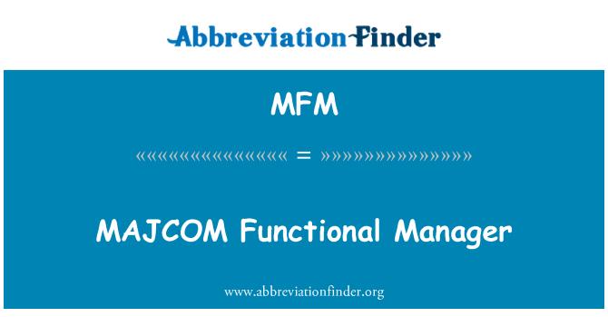 MFM: MAJCOM Functional Manager
