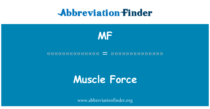 MF: Muscle Force