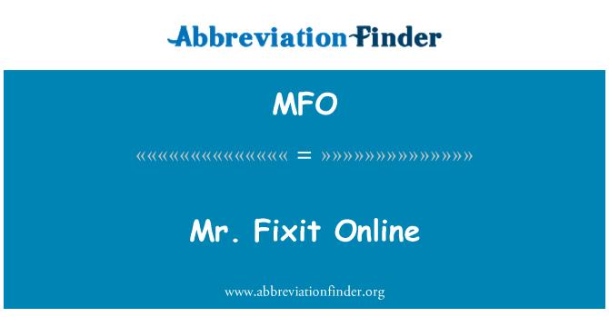 MFO: Mr. Fixit Online