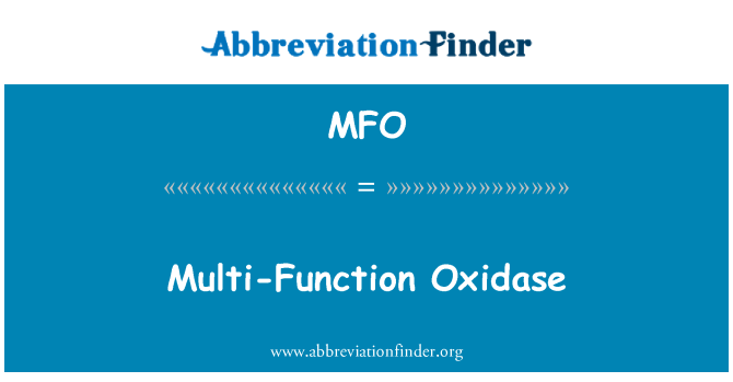 MFO: Multi-Function Oxidase