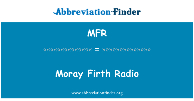 MFR: Moray Firth Radio
