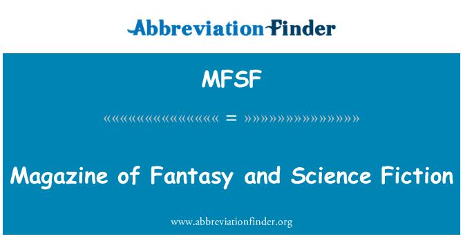 MFSF: Majalah fantasi dan Fiksyen Sains