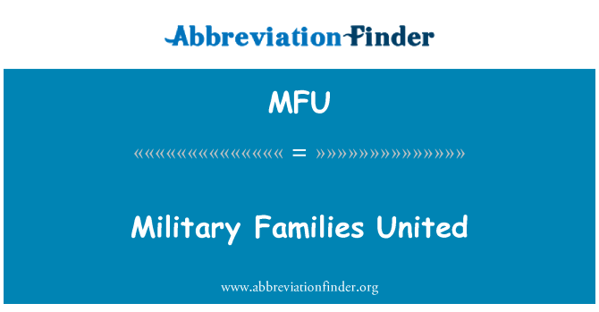 MFU: Military Families United