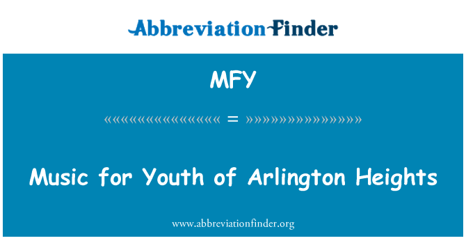 MFY: Music for Youth of Arlington Heights