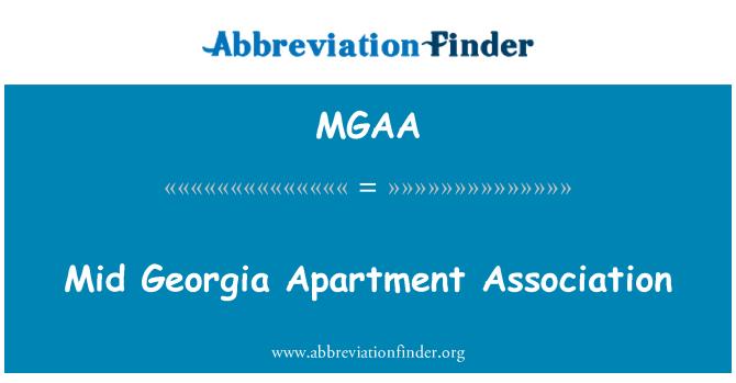 MGAA: Asociación de apartamentos de Georgia mediados