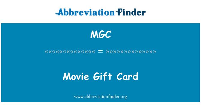 MGC: Movie Gift Card