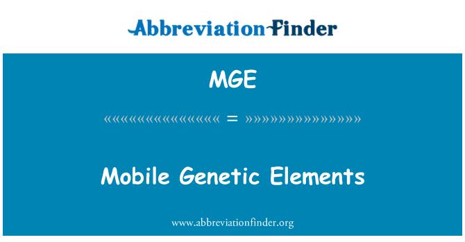 MGE: Mobile Genetic Elements