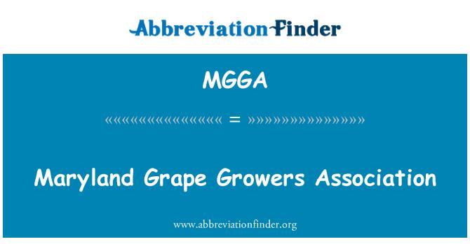 MGGA: Maryland uzgajivači grožđa udruga